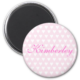 Personalised initial K girls name hearts magnet