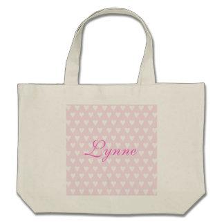 Personalised initial L girls name hearts custom Tote Bag