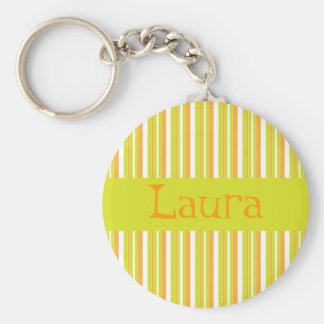 Personalised initial L girls name stripes keychain