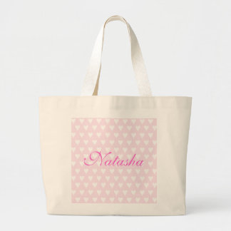 Personalised initial N girls name hearts custom Canvas Bag