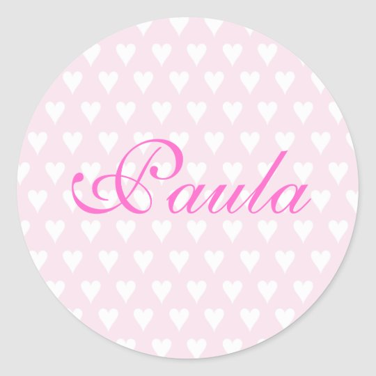 Personalised initial P girls name hearts stickers