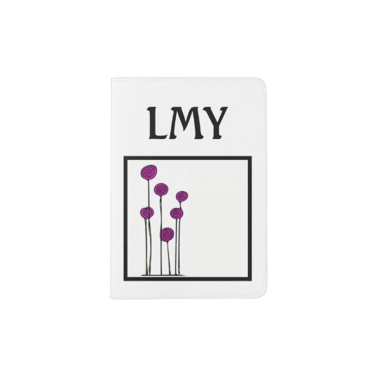Personalised Initial Passport Holder - Floral