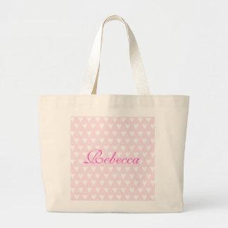 Personalised initial R girls name hearts custom Bags