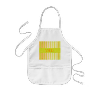 Personalised initial V girls name stripes apron