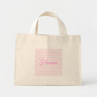 Personalised initial Y girls name hearts custom Bags