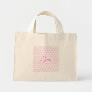 Personalised initial Z girls name hearts custom Bag