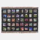 Personalised Instagram Photo Throw Blanket