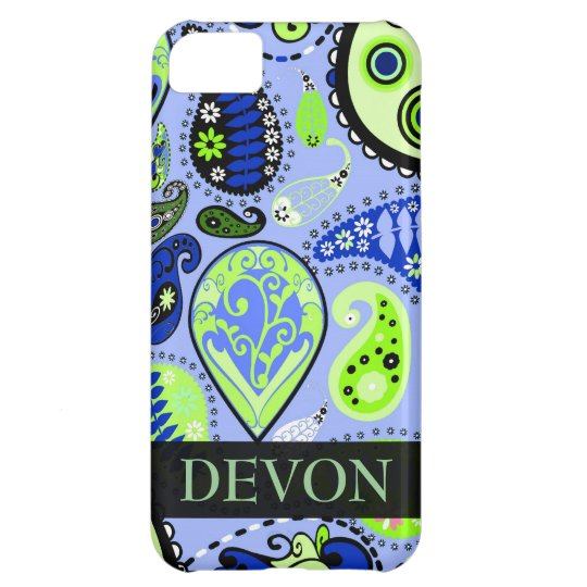Personalised iPhone 5 Paisley Mobile Device Case
