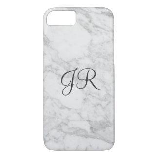Personalised iPhone 7 case Monogram Modern Marble