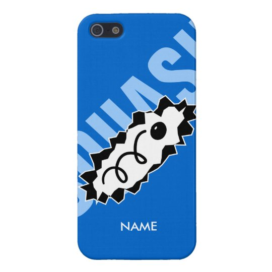 Personalised iPhone cover with squash ball print iPhone