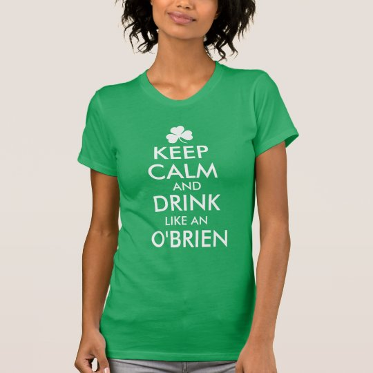 Personalised Irish Family Name Keep Calm & Drink