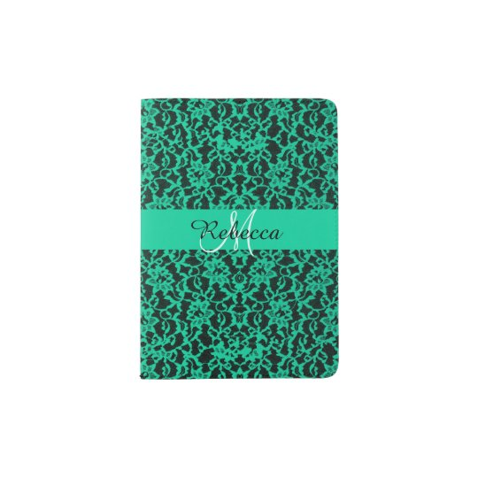 Personalised Irish Kelly Green Lace Passport Holder