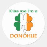 Personalised Irish Kiss Me I'm Donohue Round Sticker