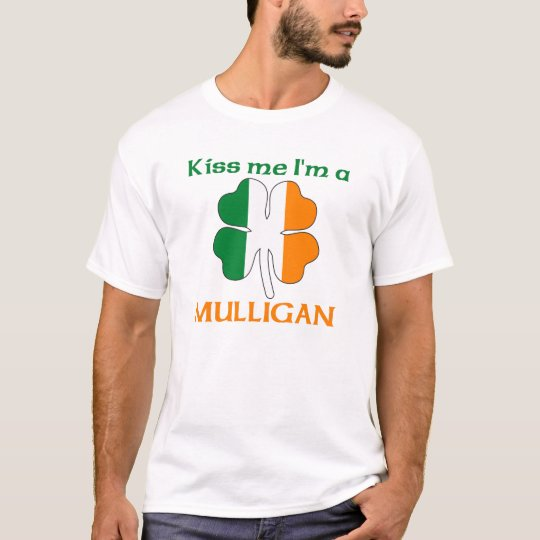 Personalised Irish Kiss Me I'm Mulligan T-Shirt