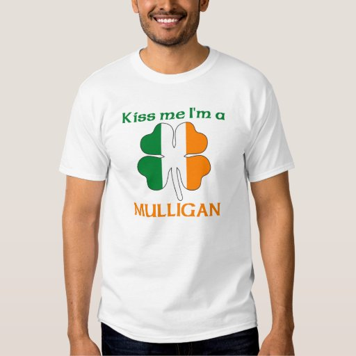 Personalised Irish Kiss Me I'm Mulligan Tee Shirt