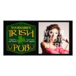Personalised Irish Pub Sign Customized Photo Card