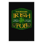 Personalised Irish Pub Sign Flyers