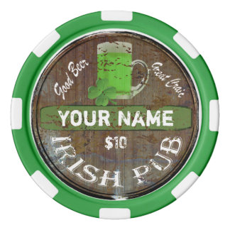 Personalised Irish Pub sign Poker Chips