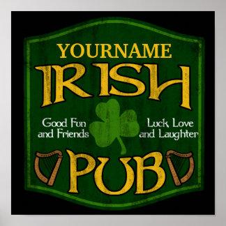 Personalised Irish Pub Sign Print