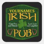 Personalised Irish Pub Sign Stickers