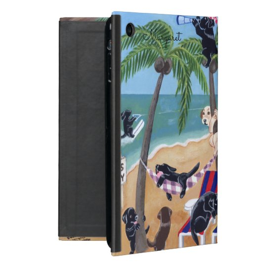 Personalised Island Summer Vacation Labradors case