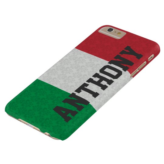 Personalised Italian Flag Damask Pattern Barely There iPhone 6 Plus Case