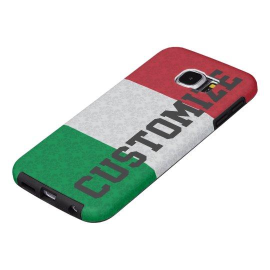 Personalised Italian Flag Damask Pattern Samsung Galaxy S6