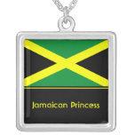 Personalised Jamaican Flag Pendant, Jamaica