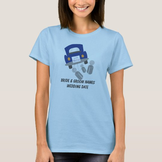 Personalised Just Married Car T-shirt