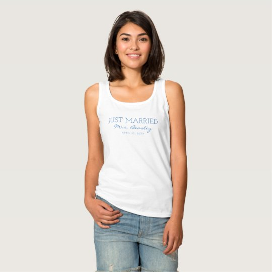 Personalised Just Married Mrs. Shirt
