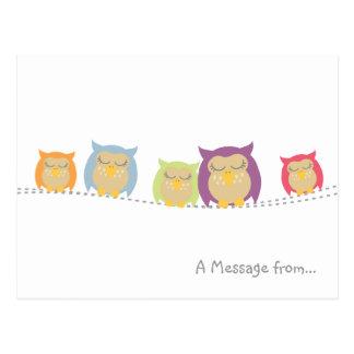 Personalised Kawaii Owl Postcard