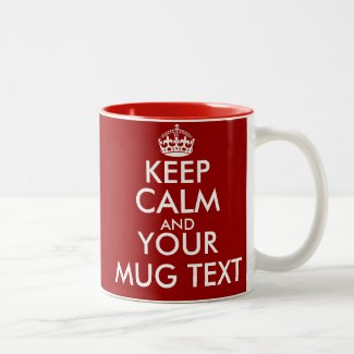Personalised Keep Calm mugs
