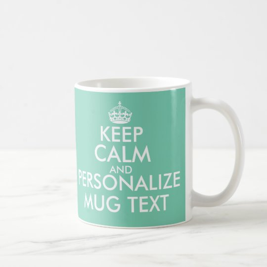 Personalised Keep Calm wedding mugs and cups