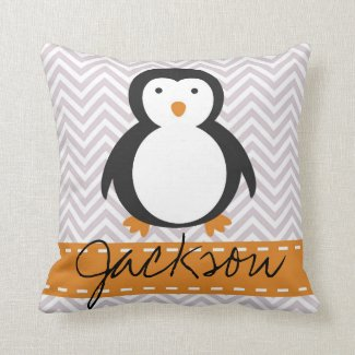 Personalised Kids Penguin Pillow