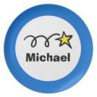 Personalised kids plate | Star design for children