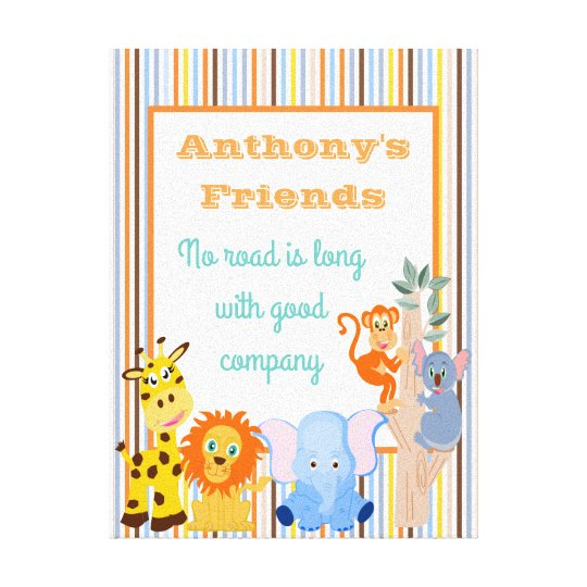 Personalised kids room quote canvas print