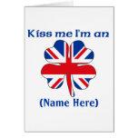 Personalised Kiss Me I'm British Greeting Card
