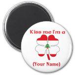 Personalised Kiss Me I'm Lebanese  Magnet