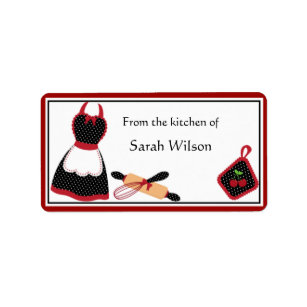 Personalised Kitchen Labels - medium size