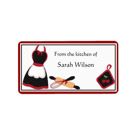 personalised kitchen labels medium size zazzle co uk
