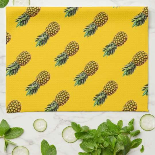 Personalised kitchen towel with pineapple fruit