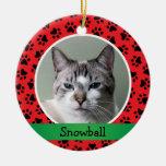 Personalised Kitten Cat Photo Ornament