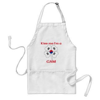 Personalised Korean Kiss Me I'm Gam Standard Apron