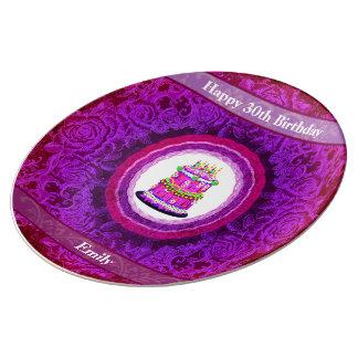 Personalised Ladies Birthday Plate 18th 21st 30th