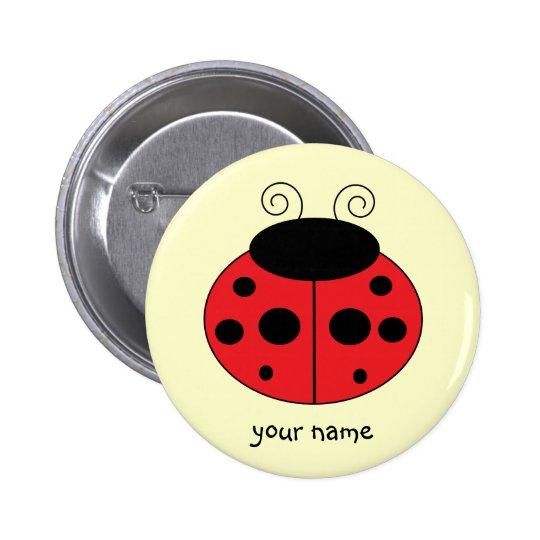 Personalised Ladybug Button