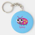 Personalised Ladybug Keychain