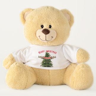 Personalised Large Beary Christmas Teddy Bear