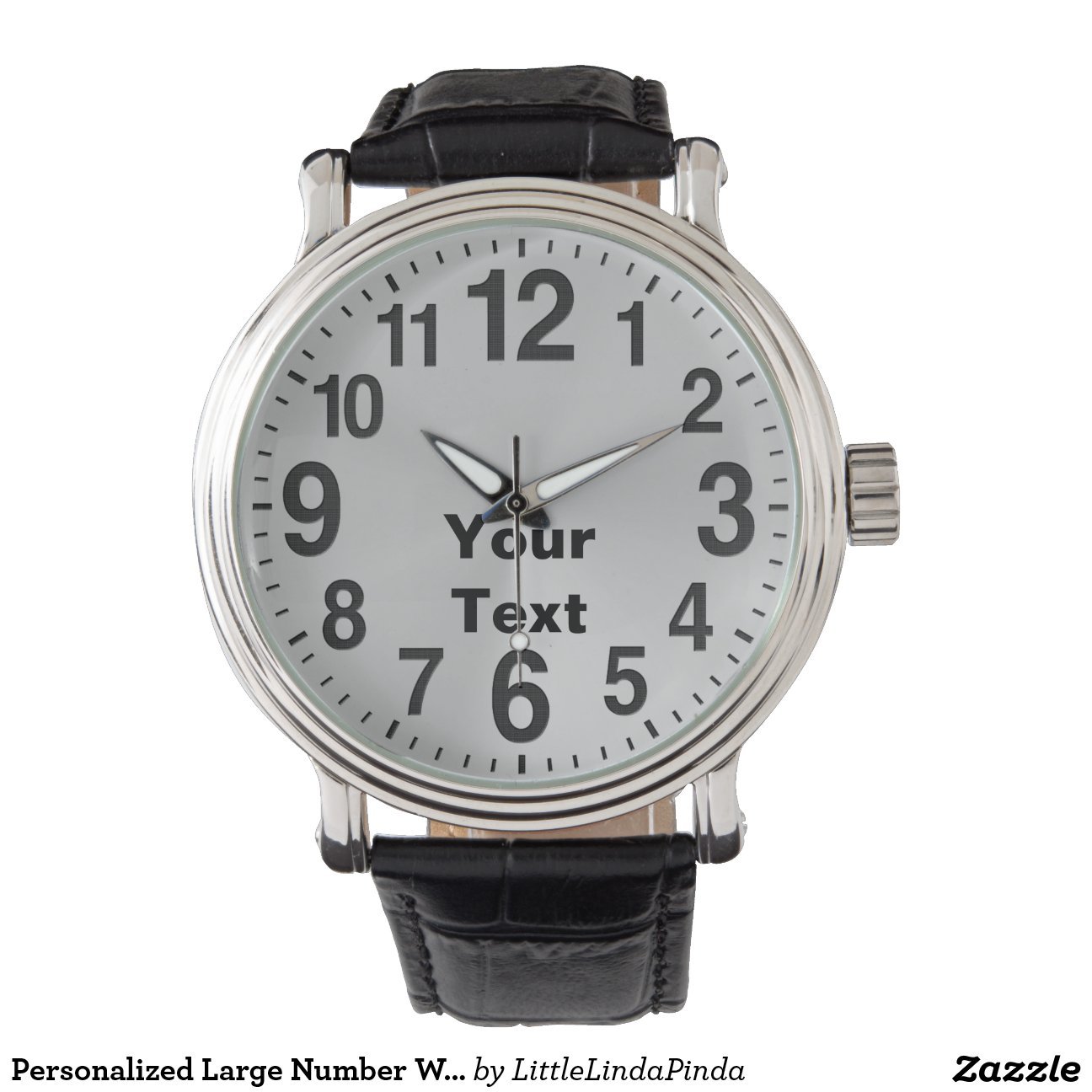 personalised large number watches for zazzle