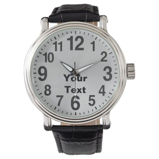 Personalised Large Number Watches for Men