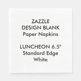 Personalised Large WHITE Luncheon Paper Napkins